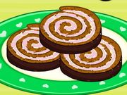 Barbie's Chocolate Ice Cream Cake Roll