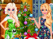 Elsa And Barbie's Christm…