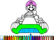 Mario Driving Coloring Book