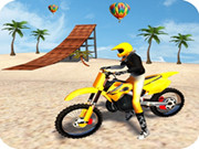 Racing Moto: Beach Jumping Simulator
