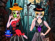 Sister's Halloween Dresses