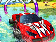 Floating Water Surfer Car Driving : Beach Racing