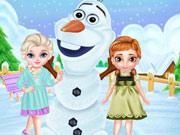 Frozen Sisters Snow Fun