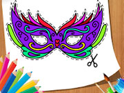 Carnival Party: Mask Coloring