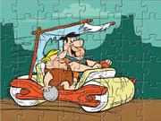 Флинтстоуны Автомобиль-пазл