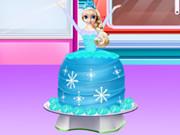 Торт «Принцессы Холодное Сердце» для Агапии и Жоржины