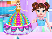 Торт-Барби для Антонины и Лауры